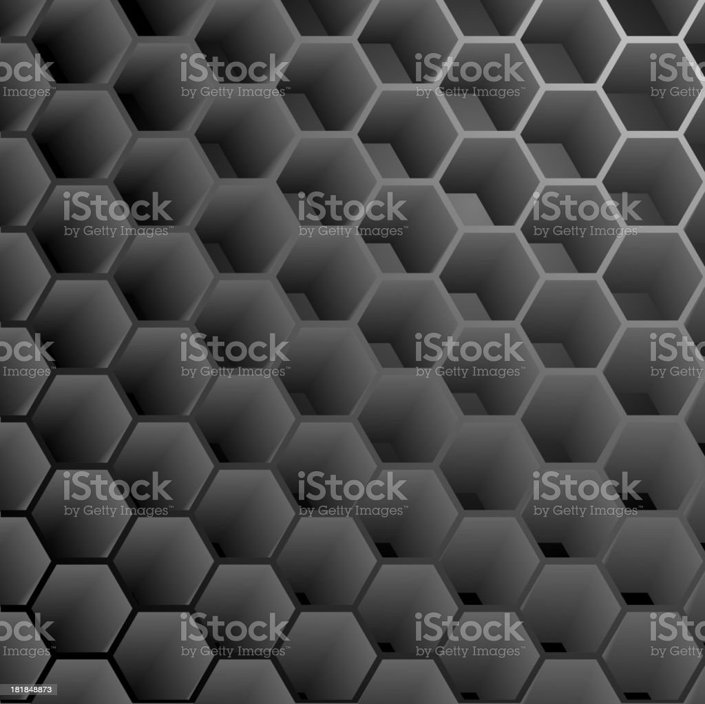Abstract Hexagon Graphite Background royalty-free abstract hexagon graphite background stock vector art & more images of aluminum