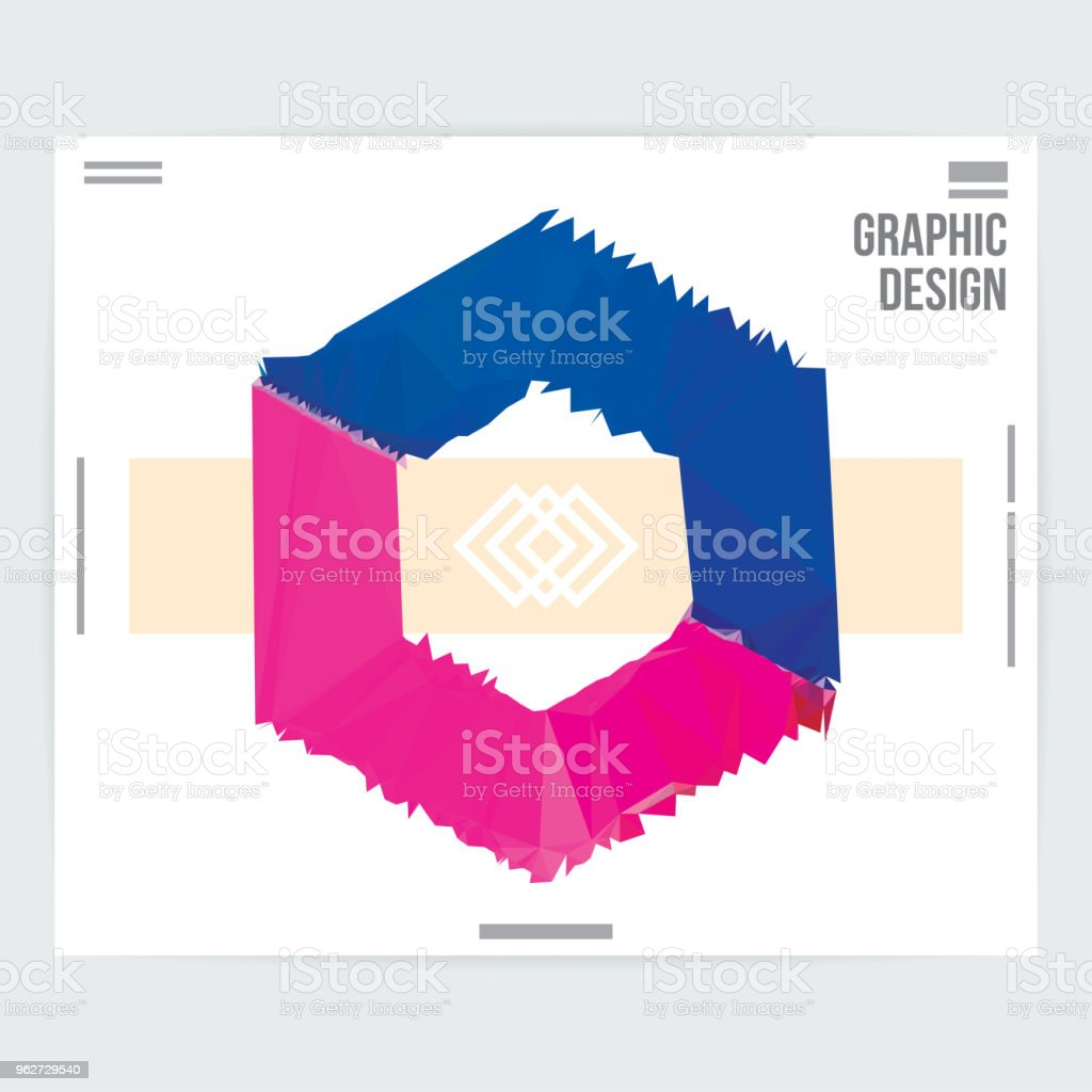 Abstract Hexagon Shape Graphic Design Poster Layout Template Stock Illustration Download Image Now Istock,Abstract Geometric Line Design