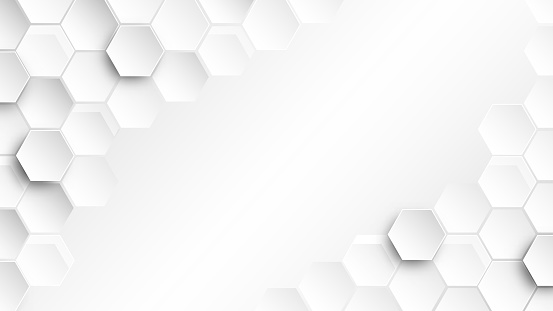 Abstract Hexagon wallpaper , white Background  , 3d vector illustration  .