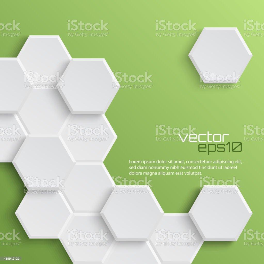 Abstract hexagonal background vector art illustration