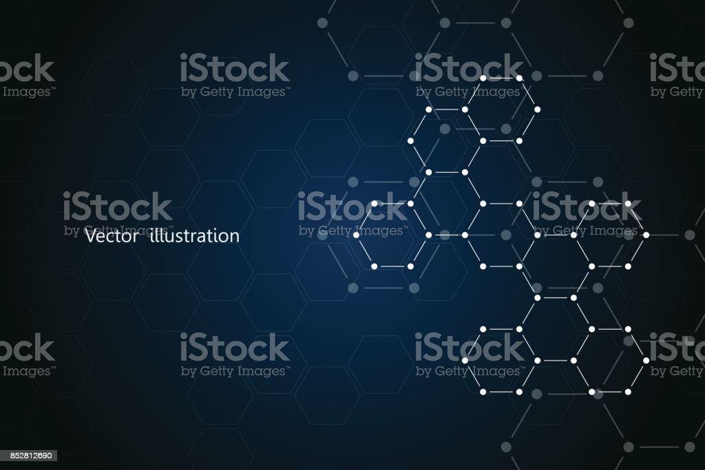 Abstracte Zeshoekige Molecuul Achtergrond Genetische En