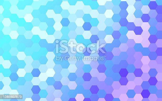 istock Abstract Hexagonal Scales Background Pattern 1285507573