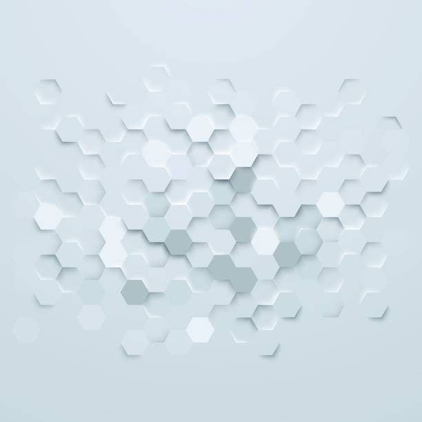 abstract hexagons background - polygon background stock illustrations