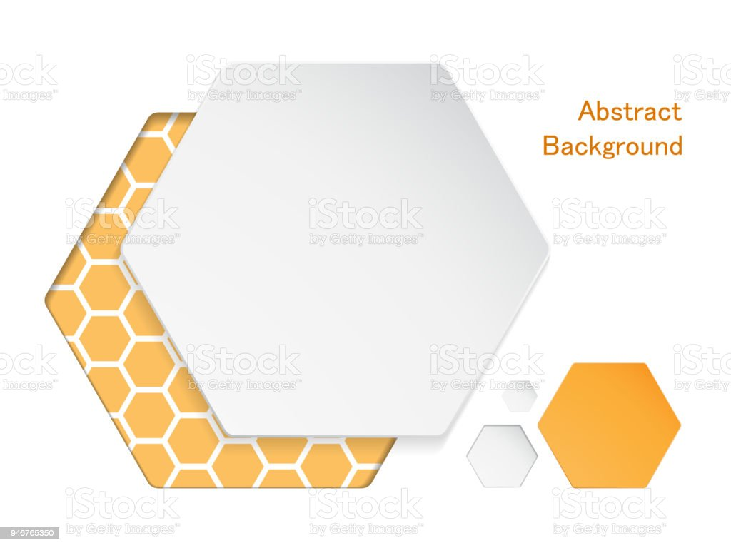Abstract Hexagons Frame Shape On White Background Stock Vector Art ...