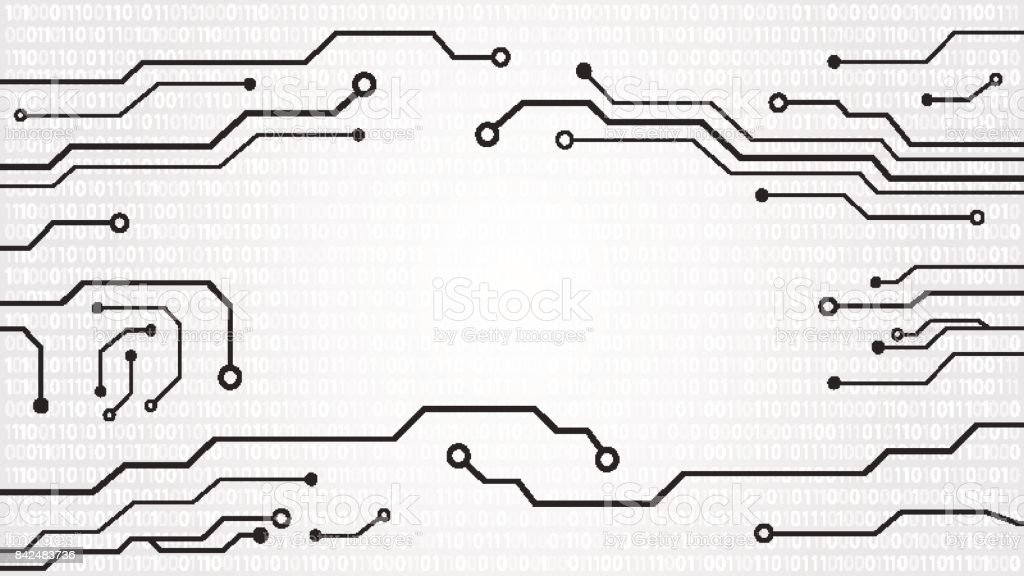 abstract hi tech circuit board background stock vector art