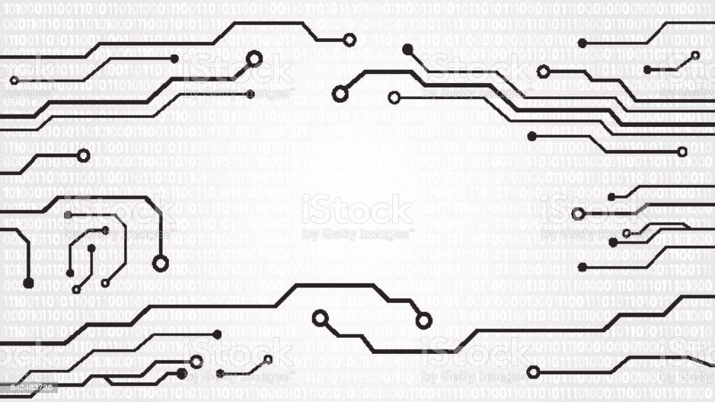 Abstract hi tech circuit board background. vector art illustration