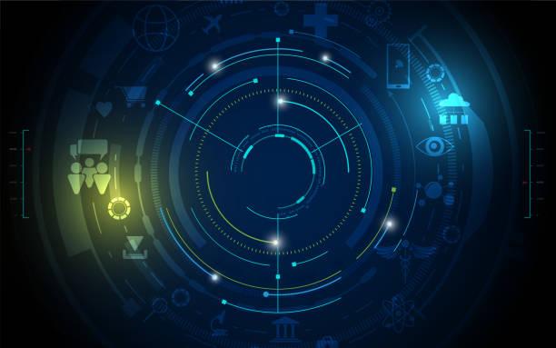 hallo Tech digitale Konzept Hintergrund abstrakt – Vektorgrafik