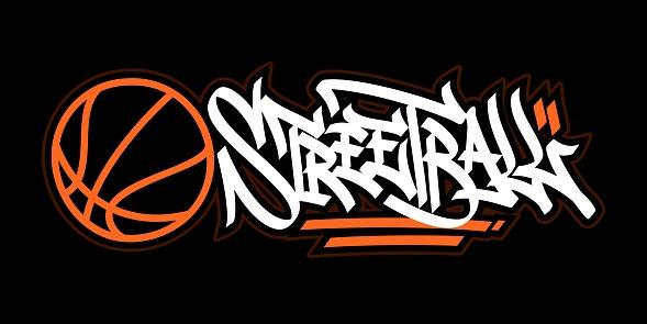 Abstract Hip Hop Hand Written Graffiti Style Word Street Ball Vector Illustration Art