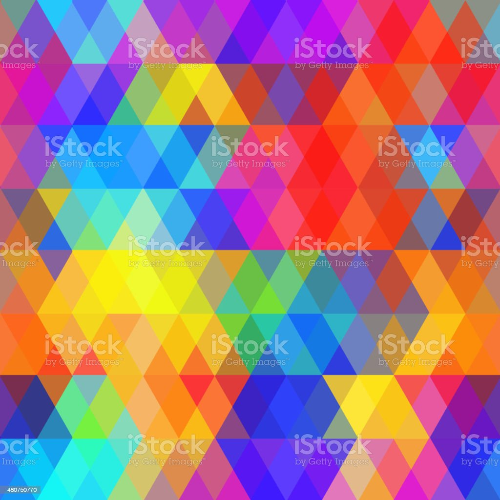 Abstract hipsters seamless pattern bright colored rhombus. Geometric background rainbow