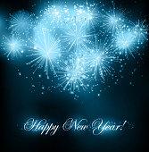 Vector illustration New Years fireworks background. EPS10.