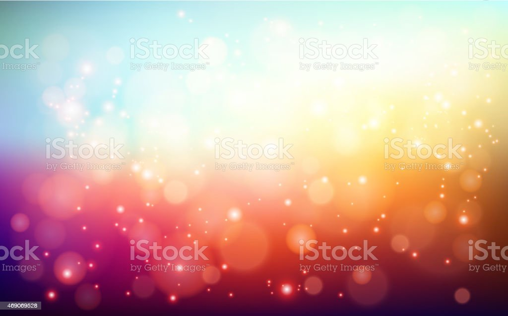 Abstract holiday light background with bokeh vector art illustration