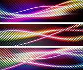 abstract holiday wave lights colorful background
