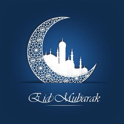 Abstract Holy Background For Eid Mubarak Stock Illustration ...