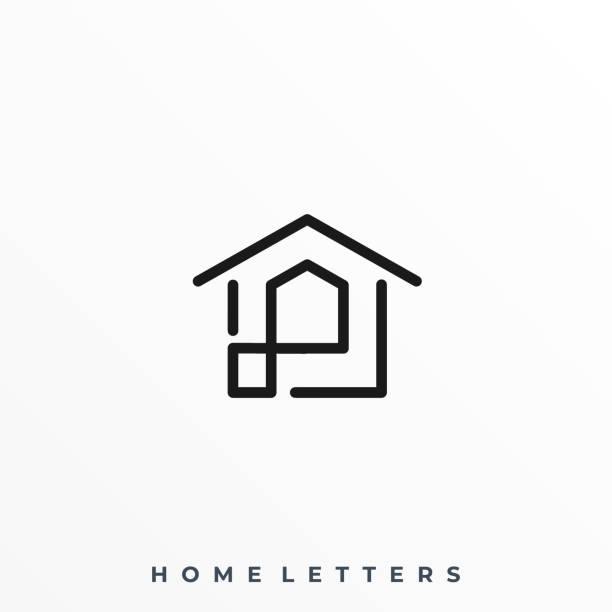 abstrakte home illustration vektor vorlage - menschliches körperteil stock-grafiken, -clipart, -cartoons und -symbole