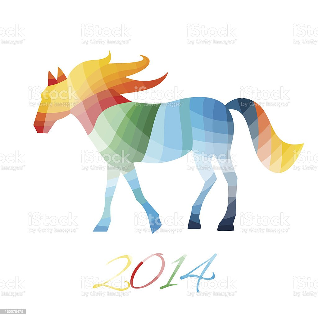 abstract horse of geometric shapes stock vector art & more images of