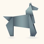 Abstract Horse Paper Origami