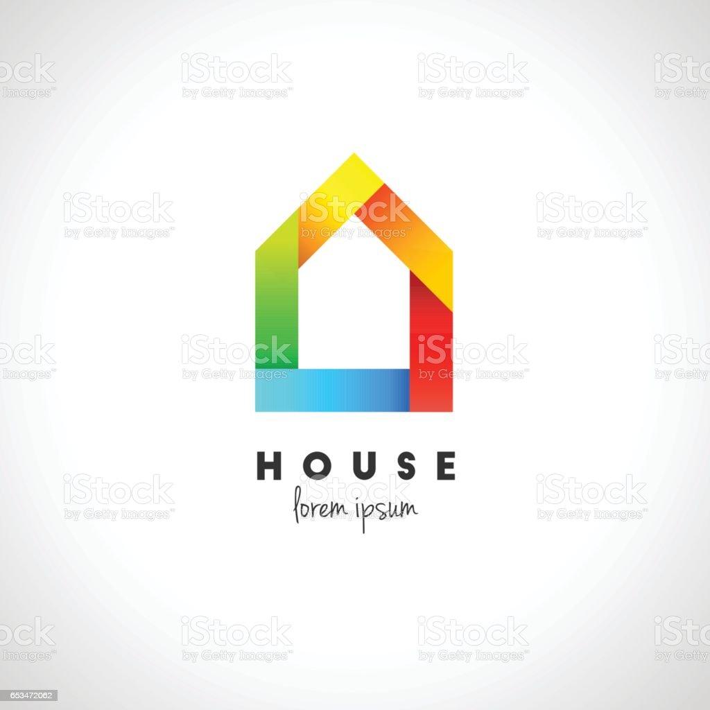 抽象的な家の設計 ベクターアートイラスト