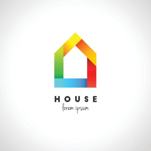 illustrations, cliparts, dessins animés et icônes de design house abstraite - logos immobilier