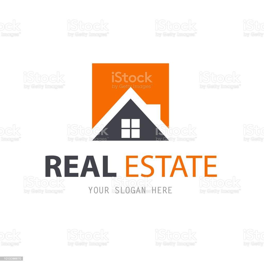 抽象的な家のロゴのデザイン テンプレートです。ビジネスのベクトルのアイコン。不動産 ベクターアートイラスト