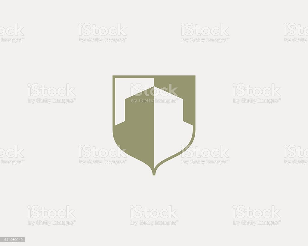 Abstract House Logo Design Template Premium Real Estate Finance Crest Lizenzfreies
