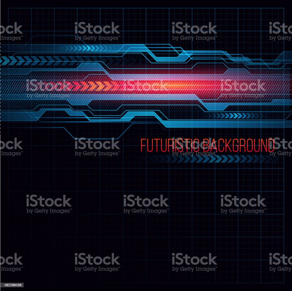 Abstract  HUD futuristic background. Vector illustration vector art illustration