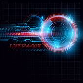 Abstract  HUD futuristic background. Vector illustration