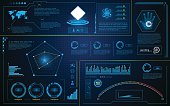 abstract hud interface intelligence technology innovation system working concept