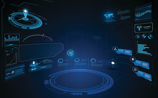 abstract hud interface ui dynamic design innovation concept template background