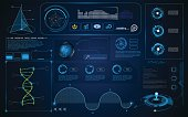 abstract HUD interface UI Screen smart technology innovation concept template background eps 10 vector