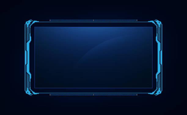 abstrakcyjny hud ui gui przyszłość futurystyczny system ekranowy wirtualny projekt - futurystyczny stock illustrations