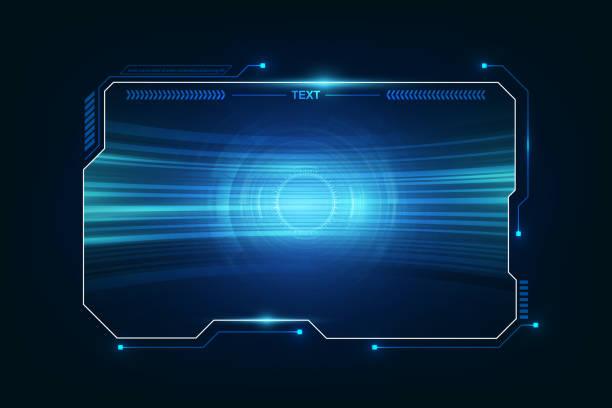 abstrakcyjny hud ui gui przyszłości futurystyczny system ekranowy wirtualny projekt. ilustracja wektorowa eps10 - futurystyczny stock illustrations