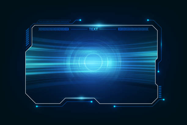 abstract hud ui gui future futuristic screen system virtual design. vektorbild eps10 - hologramm stock-grafiken, -clipart, -cartoons und -symbole