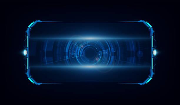 추상 hud ui gui 미래 미래 화면 시스템 가상 디자인. 벡터 일러스트레이션 eps10 - future stock illustrations