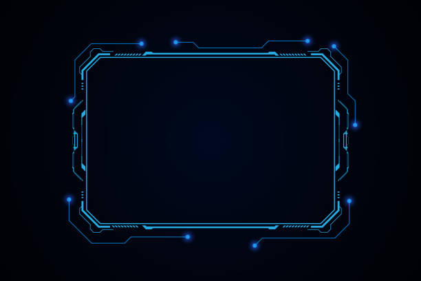 illustrazioni stock, clip art, cartoni animati e icone di tendenza di abstract hud ui gui futuro futuristico schermo sistema virtual design - intelaiatura