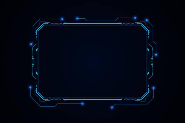 추상 hud ui gui 미래 미래 화면 시스템 가상 디자인 - future stock illustrations