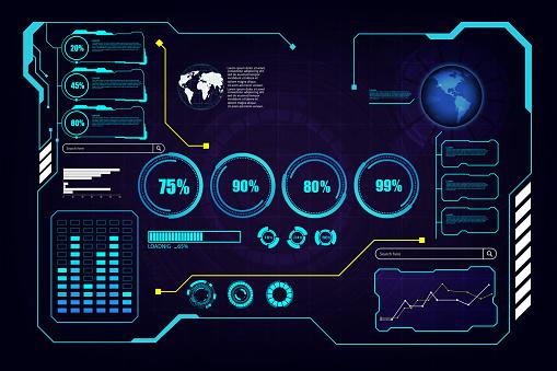 abstract hud ui gui future futuristic screen system virtual design background