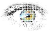 Abstract human - digital - eye made from circles