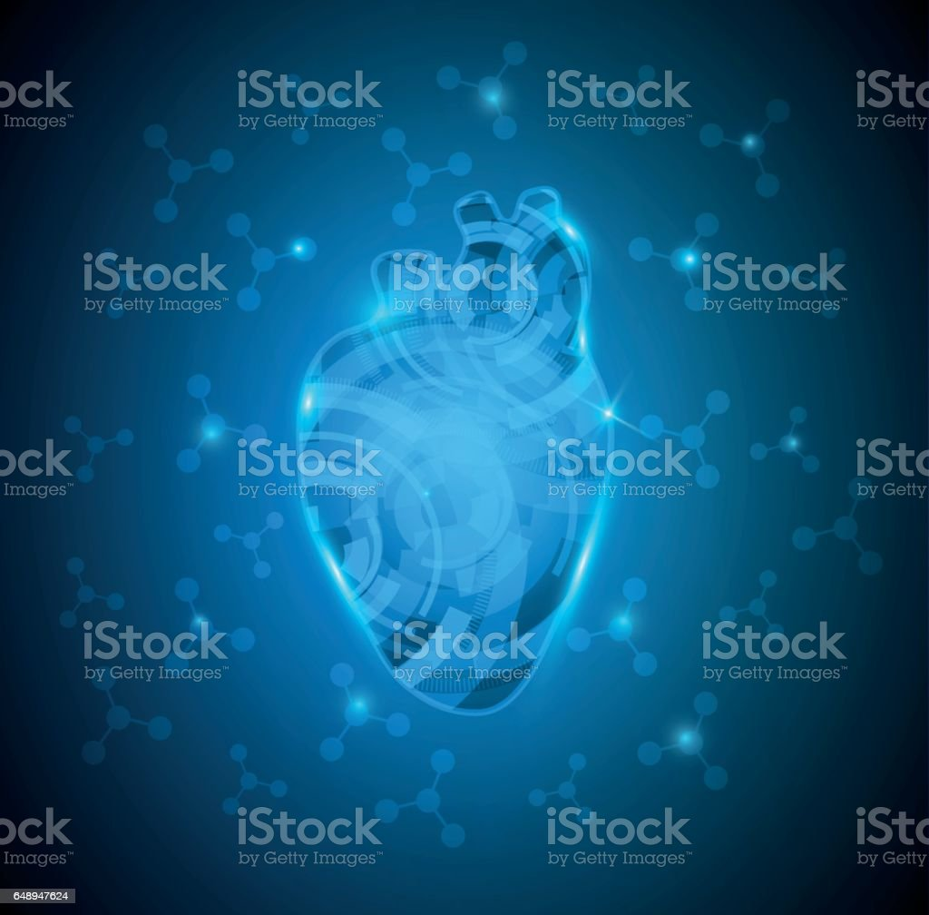 Abstract Human Heart Stock Vector Art More Images Of