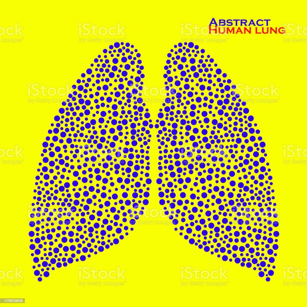 Abstract human lung. Vector illustration. Eps 10 vector art illustration