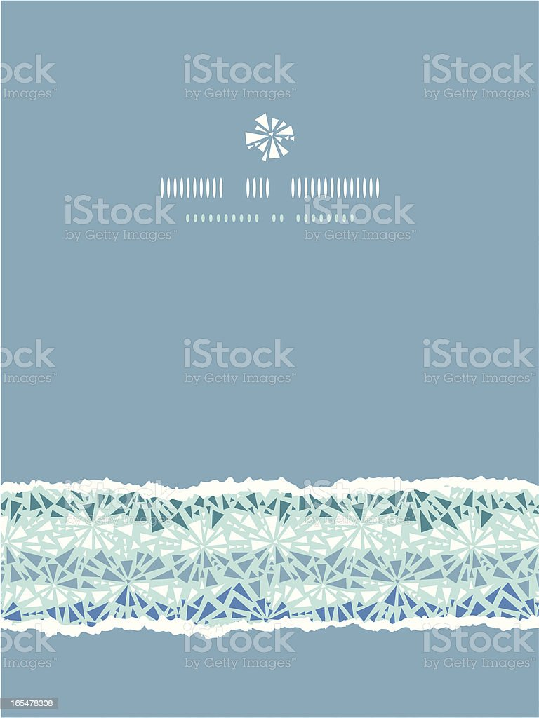 Abstract ice chrystals texture vertical torn seamless pattern background royalty-free stock vector art