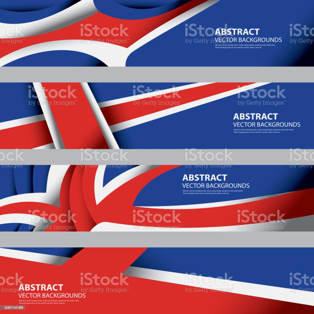 Abstract Iceland Flag, Icelandic Abstract Background (Vector Art) vector art illustration