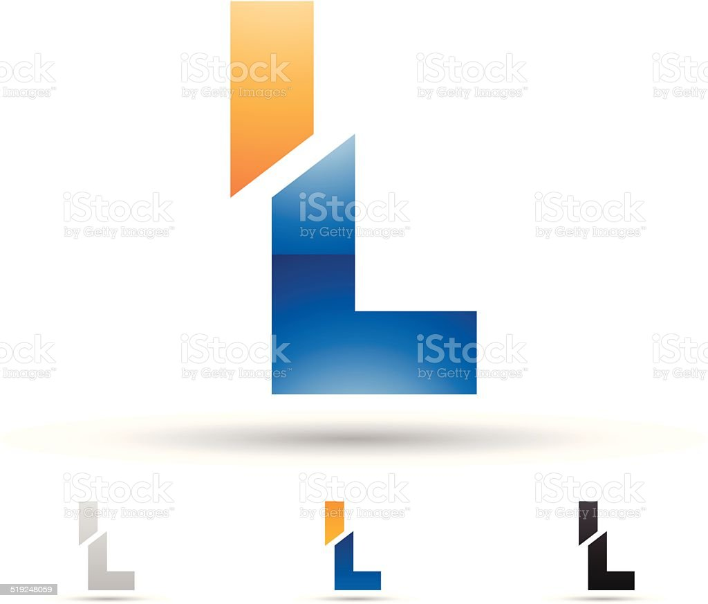 Abstract icon for letter L vector art illustration
