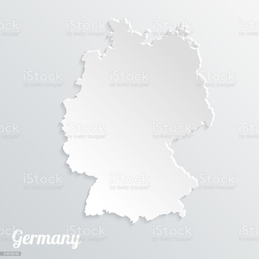 Abstraite icône carte de l'Allemagne sur un fond gris - Illustration vectorielle