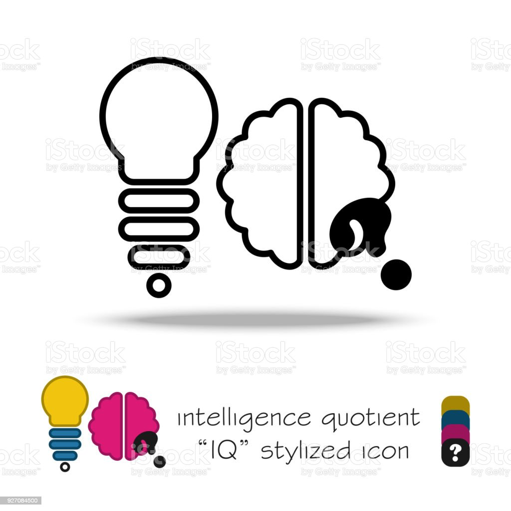 Abstrakten Symbol Licht Silhouette Mit Gehirn Stilisierten ...