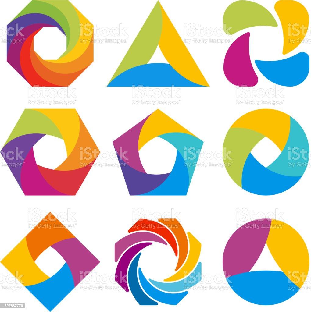 Abstrakten Symbol-Form-Design. – Vektorgrafik