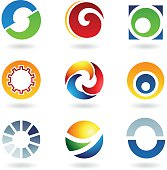 Abstract icons for letter O