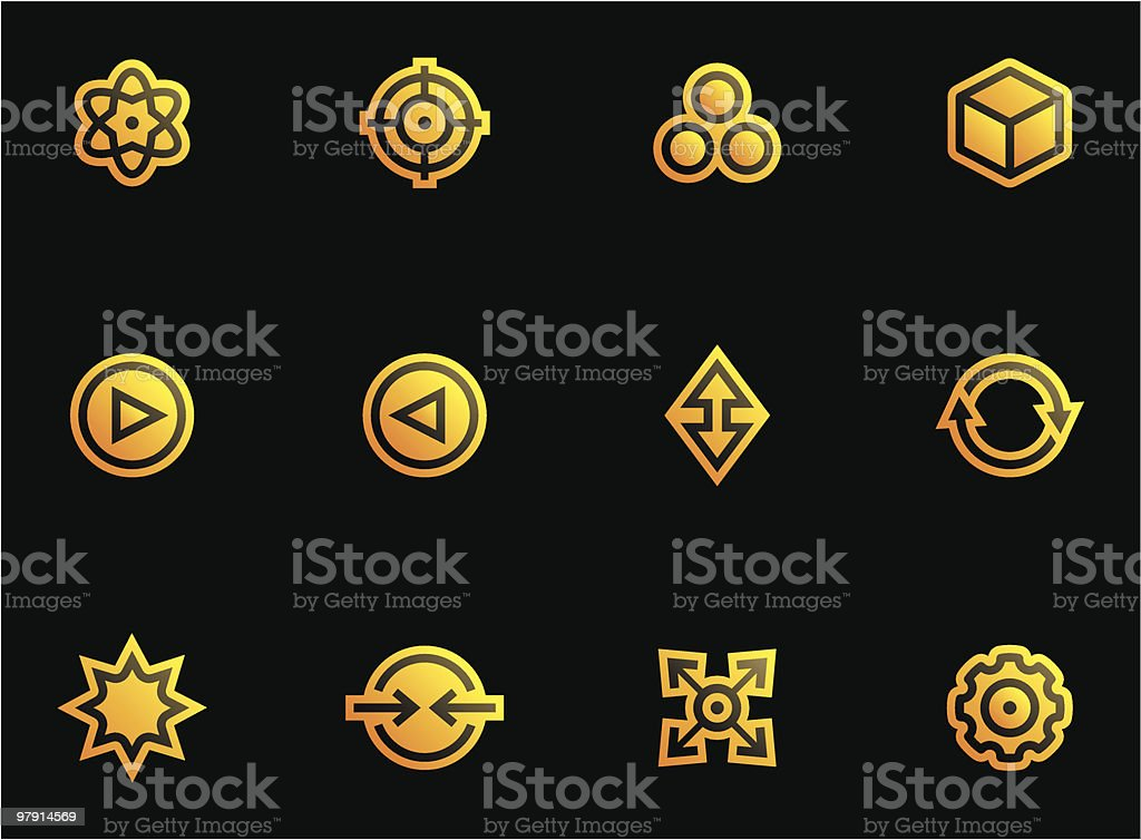 Abstract icons set royalty-free abstract icons set stock vector art & more images of abstract