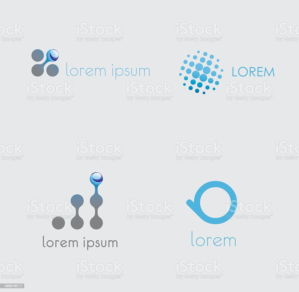 abstract icons set  vector vector art illustration