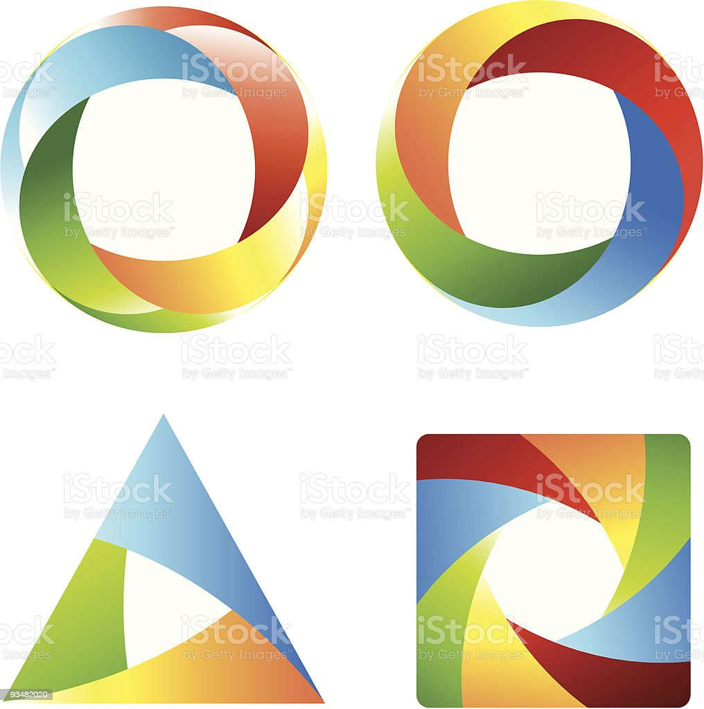 Abstract icons royalty-free stock vector art