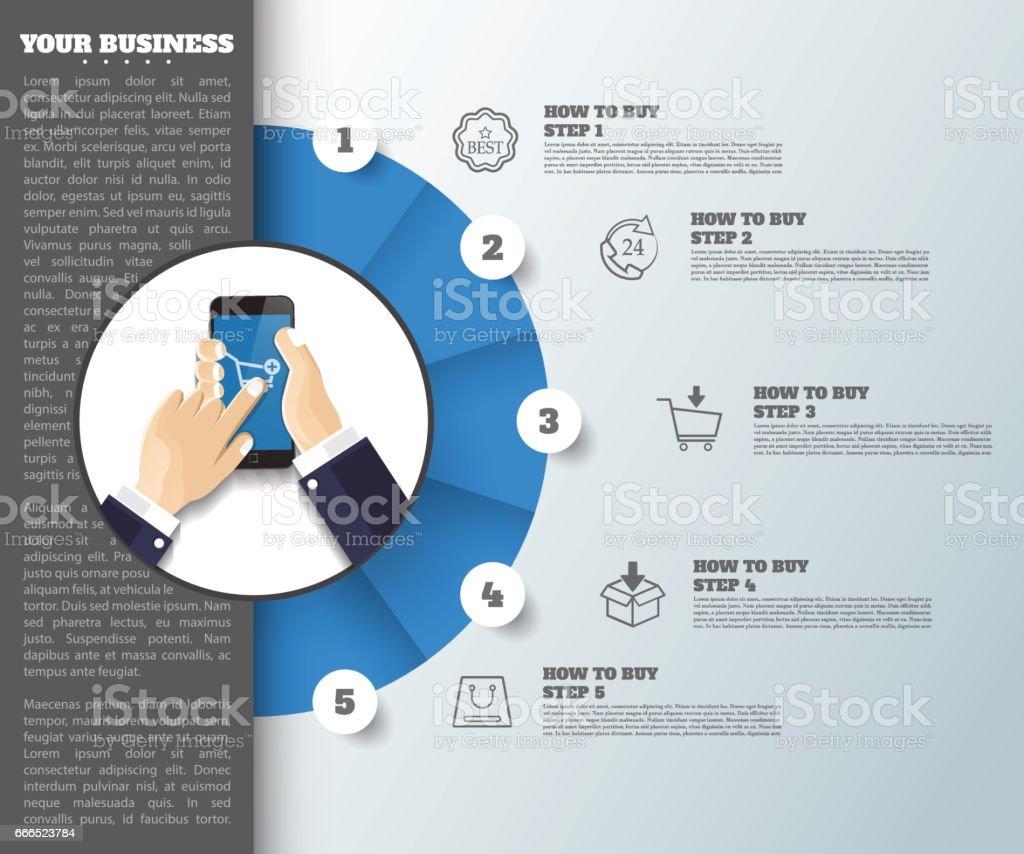 Abstrakte Idee Hintergrund Geschäft Infografik Kann Verwendet ...